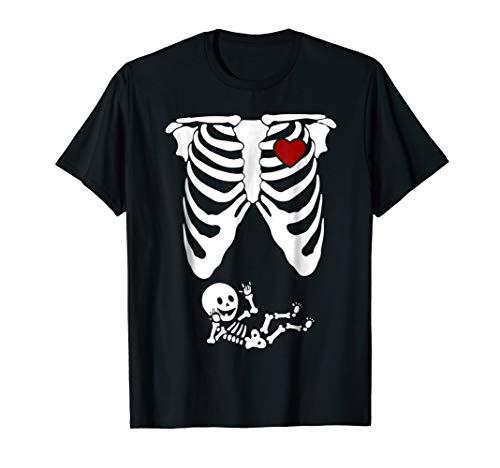 Skeleton Halloween T Shirt Baby Maternity Funny Costume ()