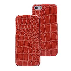 WQQ Glossy Crocodile Pattern PU Flip Case with Interior Microfiber for iPhone 5/5S (Optional Colors) , Orange