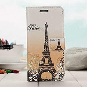 SHOUJIKE Fashion Color Cartoon AC Tower PU Full Body Case with Stand for iPhone 6