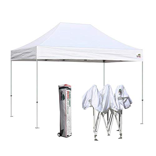 Eurmax Commercial 8X12 Outdoor Pop up Portable Shelter Folding Canopy with Roller Bag, (12' Roller Bracket)