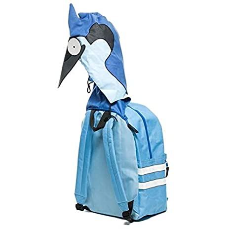 fd315b121 Amazon.com  Animewild Regular Show Mordecai   Rigby Hooded Backpack ...