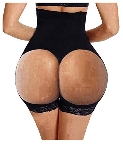 Hourglass Figure Butt Lifter Shaper Panties Tummy Control High Waisted Boyshort (Black, M/L(Prime))