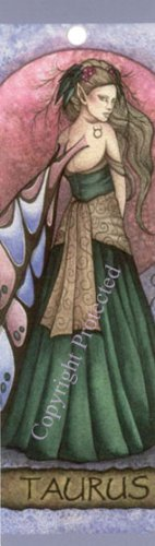 Jessica Galbreth Zodiac Sign Bookmark Fairy Faery Taurus - Jessica Galbreth Zodiac Sign