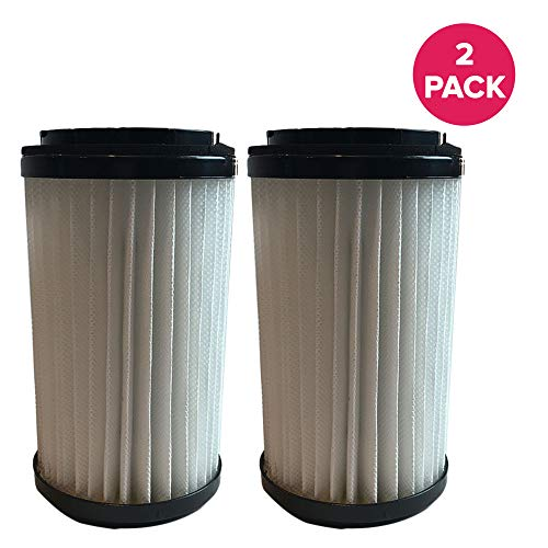 Crucial Vacuum Air Filter Replacement Part # 82720, 82912 - Compatible with Kenmore Vacs - Kenmore DCF1, DCF2 Filter, Removable Endcap for Home Use - Washable, Reuseable (2 Pack)