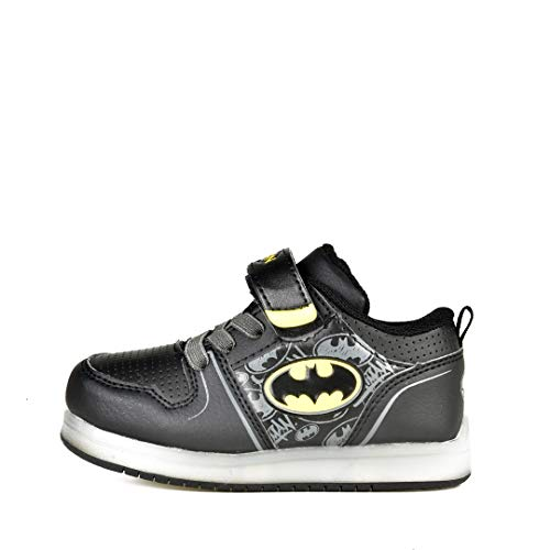 Favorite Characters Batman Motion Lighted Athletic Shoes Black Toddler/Little Kid (12 M US Little Kid)
