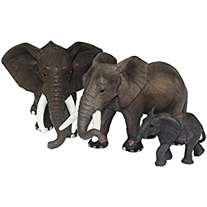 FUNSHOWCASE Jumbo African Jungle Animals Toy Figure Realistic Plastic Figurine Playset