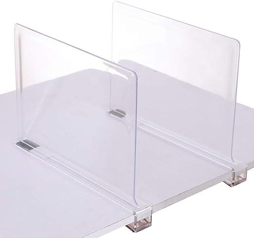 color bronce mDesign Juego de 2 separadores met/álicos para organizar armarios /Útiles organizadores de armarios y estantes para montar sin taladro Pr/ácticos divisores de estantes de metal