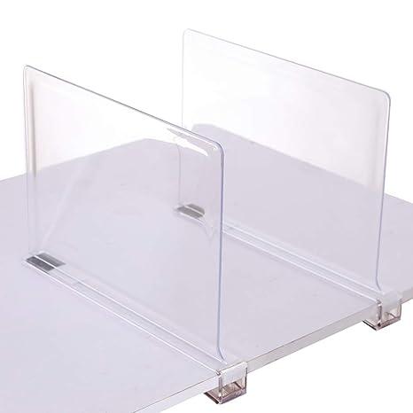 sooyee Beautiful 2 pcs acrílico estante divisores, perfecto para el dormitorio armarios cocina organización de