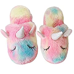 e7e3205c9 Women Slippers Unicorn Cute House Slippers Ladies Pink Winter .
