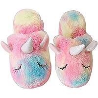 Women Slippers Unicorn Cute House Slippers Ladies Pink Winter Girls Slippers
