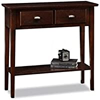 Bowery Hill Hall Console Table in Chocolate Oak