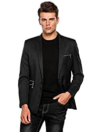 COOFANDY Men's Casual Dress Suit Slim Fit Blazer Coats Jackets (Large, Black-2)