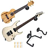 Electric Guitar Wall Hanger Ukulele Wall Mount Slatwall Horizontal Hawaiian Guitar Holder Bass Stand Rack
