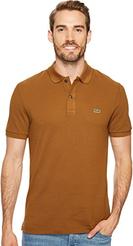 Lacoste Men's Short Sleeve Slim Fit Pique Polo, Dark Renaissance Brown, 5