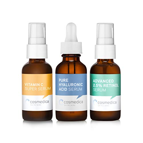 Trio Set Value- Vitamin C Super Serum Retinol Serum 2.5% Hyaluronic Acid - Spray Fragrance Treatment Maximum Active