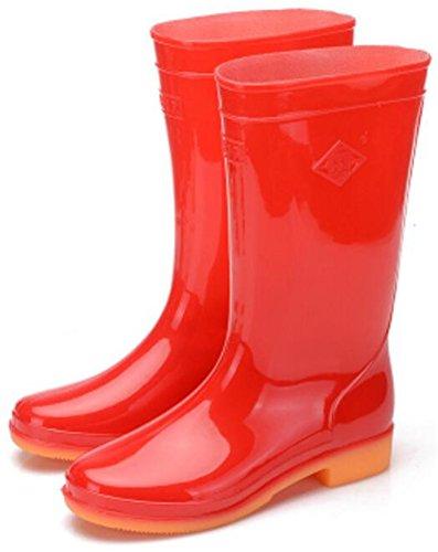 Antislip Rubber Dames Regenlaarzen Voor Dames Rood