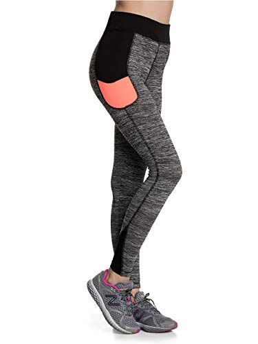 (Pierre Cardin Women High Waisted Breathable Stylish Active Legging, Pant for Workout, Yoga, Running)