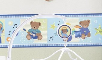 Amazon Com Bedtime Originals Bandstand Bears Wallpaper Border