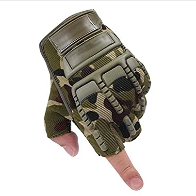 YGD Outdoor Riding Half Finger Gloves Men s Army Tactics Fitness Breathable Non-Slip Wristbands Women Summer Fingerless M Estimated Price £21.57 -