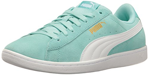 PUMA Women's Vikky Fashion Sneaker, Aruba Blue White, 8.5 M US