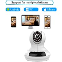 Agazer WiFi Wireless IP/Network Security Camera 720P HD Pan-Tilt Remote Motion Surveillance Home Monitoring System, Baby/Elder/Pet Monitor Night Vision Built-in Mic&Speaker Mobile View (FI-368, White)