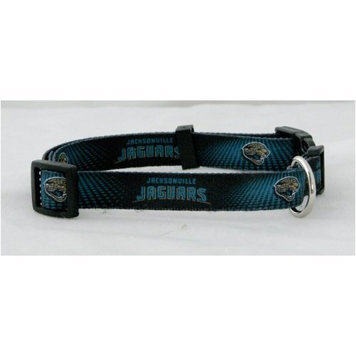 Jacksonville Jaguars NFL Dog Collar, Extra Small, X-Small, Black / Teal