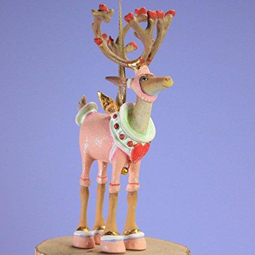 Patience Brewster Mini Dashaway Cupid Reindeer Ornament Christmas Holiday Tree Decoration - Krinkles Christmas Reindeer