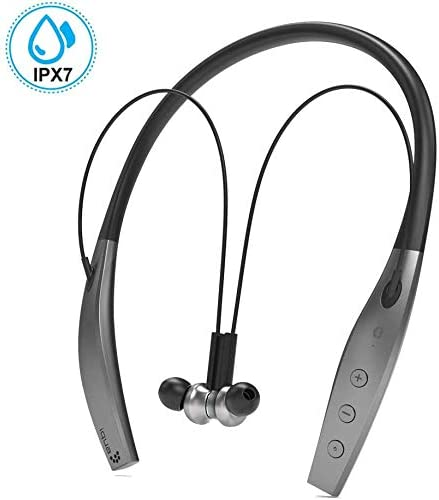 Bluetooth Headphones, Iqua Noise Cancelling Headphones, Neckband in-Ear Wireless Headphones, Waterproof IPX7 Earbuds, Magnetic Wireless Earphones with Mic, 10H Playtime, for Running Sports
