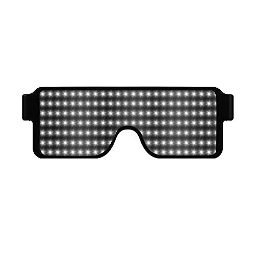 DDKK 2019 Light Up Glasses,Neon Party Supplies 20 Pack LED Glasses,6 Color LED Sunglasses Shutter Shades Light Up Plastic -