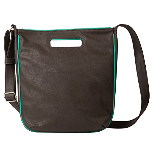 Due borsa S12 Damenshoppper, Brown/petrol