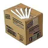 Plastic Cutlery, Mediumweight Knives, White, 1000/Carton, Sold as 1 Carton