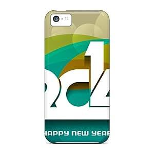 Excellent Design New Year 2014 3d Phone Cases For Iphone 5c Premium Tpu Cases