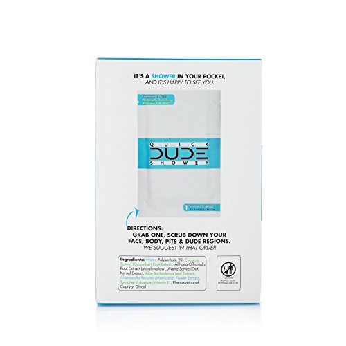 DUDE-Shower-Body-Wipes-On-The-Go-Singles-for-Travel-Unscented-Naturally-Soothing-Aloe-and-Hypoallergenic-1-Pack-10-Wipes-per-Pack