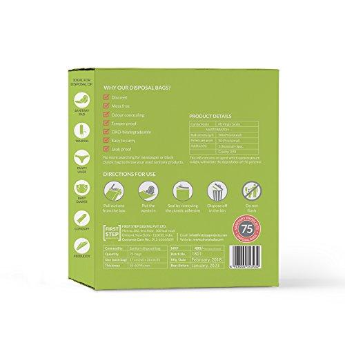 Sirona Sanitary Napkin & Baby Diapers Disposal Bags - 75 Bags