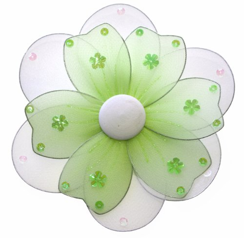 8″ Medium Green Multi Layered Daisy Flower Decorations – daisies flowers hanging nylon nursery bedroom girls room ceiling wall decor, wedding birthday party baby bridal shower, Baby & Kids Zone