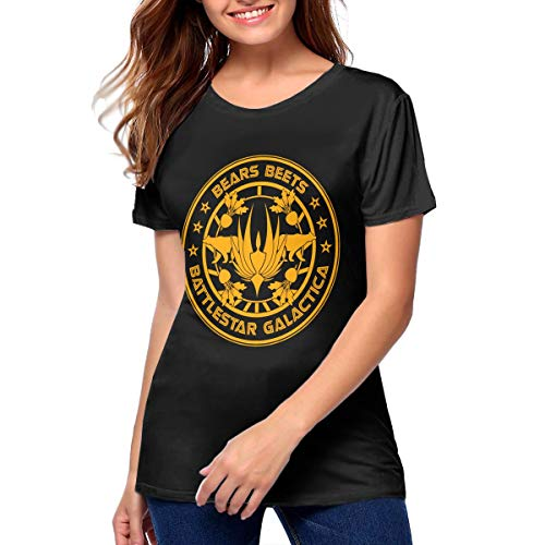 Yqgtsdfhgf Bears Beets Battlestar Galactica T Shirt Printed Shirt Basic Shirt Womans 〠Black ã€' -