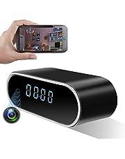 LIVCRT [Upgraded] Wireless Hidden Camera Clock Motion Detection Alarm Clock Camera Spy Camera Clock with Night Vision HD Recording Camera Clock Spy Camera & Hidden Cam Remote Via Android / iOS / PC