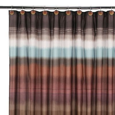 Saturday Knight Jessen Stripe Shower Curtain, (Earthtone Stripe)