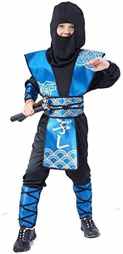 Disfraz azul de ninja para niño 10 - 12 ans (L): Amazon.es ...