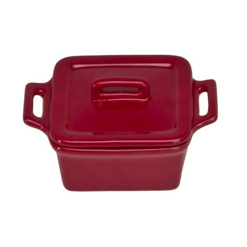 Omniware 1172025 Square Mini Bakers with Lids, Set of 4, Red