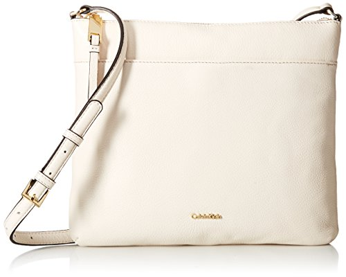 (Calvin Klein North South Pebble Leather Crossbody,)