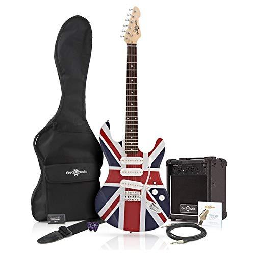 Guitarra eléctrica LA + Paquete de Amplificador de 10 W Union Jack: Amazon.es: Instrumentos musicales