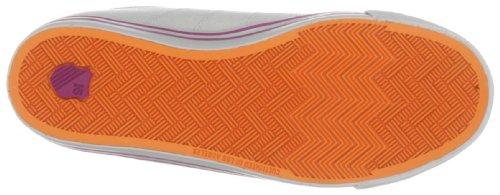 K-Swiss - Zapatillas de deporte de cuero para mujer Marrón (Braun (Beluga/Gull Gray/Magenta/Vibrant Orange))