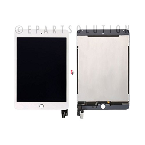 - ePartSolution_iPad Mini 4 A1538 A1550 LCD Touch Screen Digitizer Assembly White Replacement Part