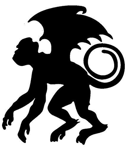 Flying Monkey Transfer tattoos tattooing temporary tattoos Cute Face -