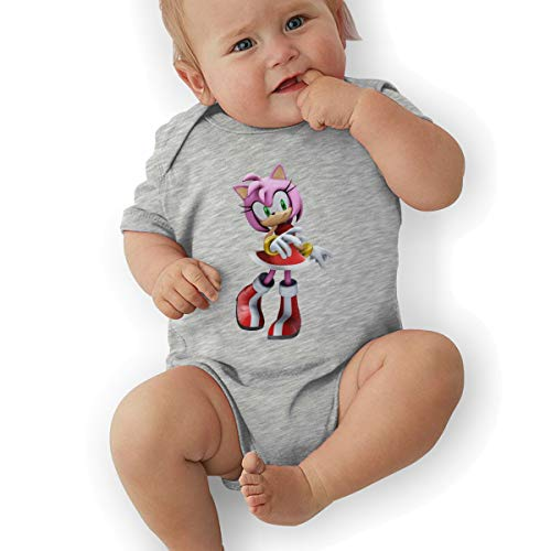 HiPiClothK Babys Sonic Hedgehog Amy Rose Fashion Comfortable Short Sleeve Jumpsuit Outfits -