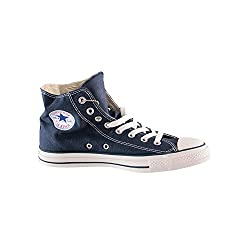 Converse Mens All Star Hi Navy Blue Fabric fashion-sneakers Size 7.5