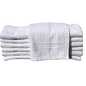 24 PCS NEW WHITE 20X40 100% COTTON ECONOMY BATH TOWELS SOFT & QUICK DRY (2 Dozen)