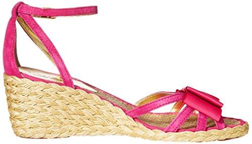 Lauren Ralph Lauren de la mujer Claudie Alpargata cuña sandalias Geranium