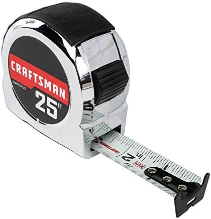 CRAFTSMAN Tape Measure, Chrome Classic, 25-Foot (CMHT37325S) – The Super Cheap